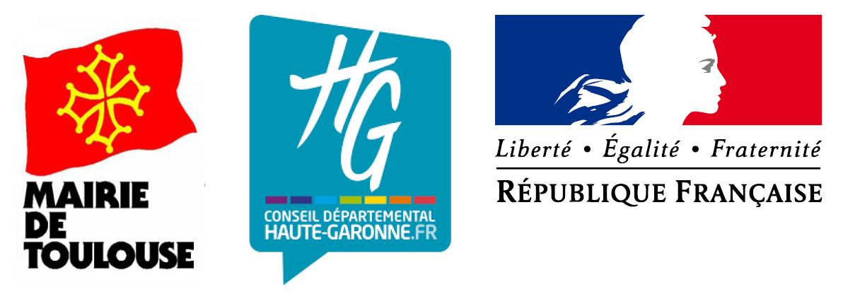 Soutiens et partenaires de la régie de quartier Desbals Services à Toulouse : La Mairie de Toulouse, le Conseil Départemental de la Haute-Garonne, la République Française